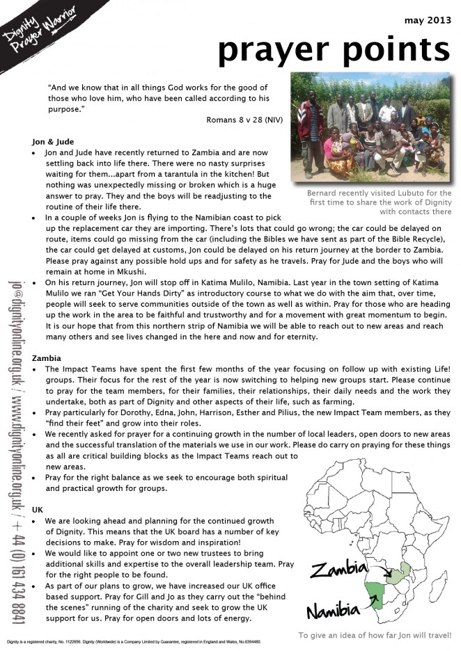 2014 05 prayer points