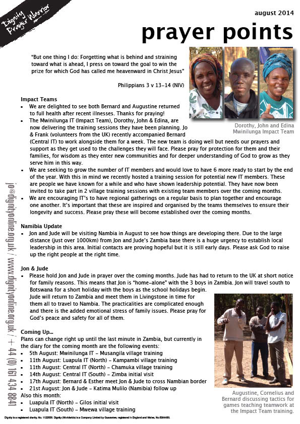 2014 08 prayer points